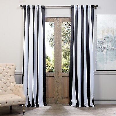 exclusive fabrics black and white vertical striped. Black Bedroom Furniture Sets. Home Design Ideas