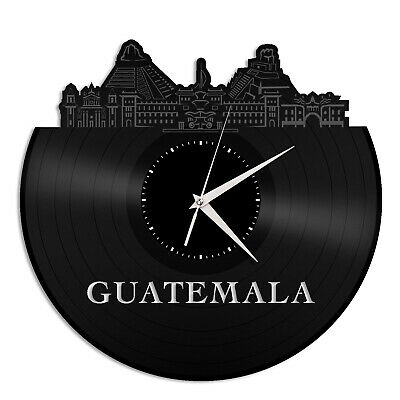 Guatemala Vinyl Wall Clock City Skyline Vintage Gift Room Office Decoration for sale  Shipping to India
