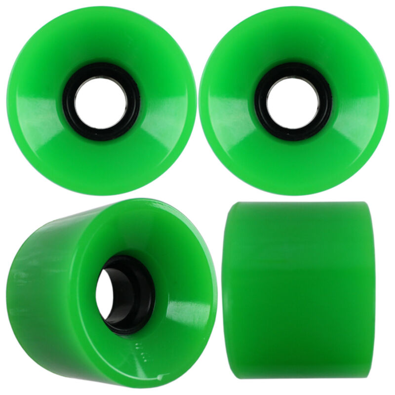 Longboard Cruiser Wheels Set 58mm x 42mm 83a Green USA Made