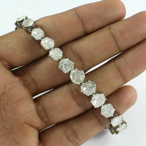 Rosecut Diamond Uncut Diamond Polki Victorian Handmade Open Setting Bracelet