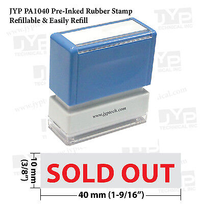 Jyp Pa1040 Pre-inked Rubber Stamp W. Sold Out