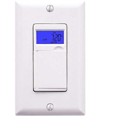 Enerlites 7 Day Digital Electric Programmable Timer Outlet In Wall Light Switch