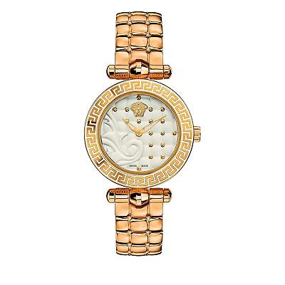 Versace VQM060015 Women's MICRO VANITAS Gold-Tone Quartz Watch