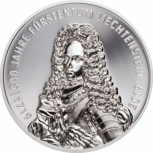 300 Year Liechtenstein 1 oz Proof Silver Coin 2019