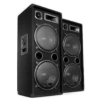 PA DJ Lautsprecher Paar 2x 2000 Watt Set Disco Party 3-Wege Boxen 12