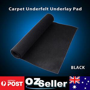 Marine Boat Underfelt Deck Board Carpets Black 2 Meter Width Roll - Sold Per Mtr