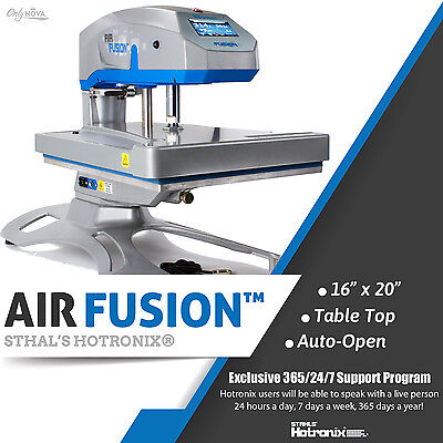 Stahls Hotronix 16 X 20 Swing Arm Table Top Air Fusion Heat Press