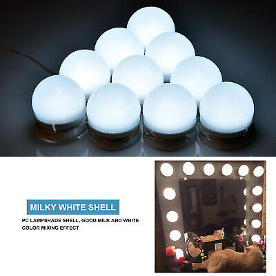 10 Bulbs Hollywood Style LED Vanity Dimmable Mirror Lamp Lights Kit for Makeup (Cosmetic Mirror)