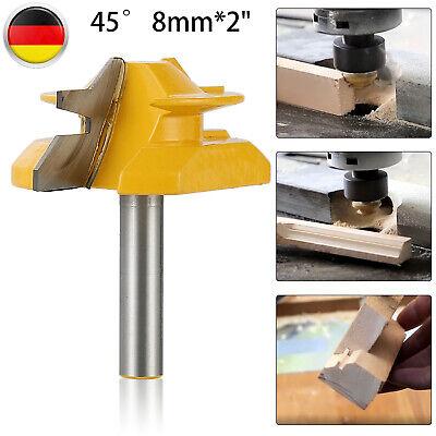 45° T-Nut Fräser 8mm Schaft Fräser Holzbearbeitung Meißel  Werkzeug NEU~
