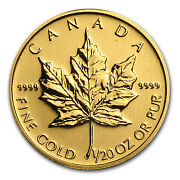 Gold Coins 1/20 oz Maple Leaf