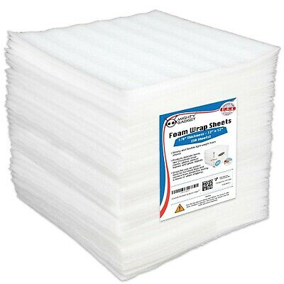 50 Pack Mighty Gadget R 12 X 12 X 18 Moving Supplies Packing Foam Sheet...