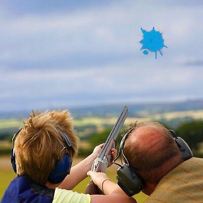 DIY Clay Pigeon Fill Gender Reveal Holi Color Skeet Powder Shooting Target Blue