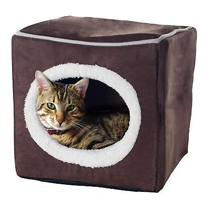 Pet Bed Dog Cat Soft House Warm Puppy Supplies Kennel Fleece Cushion cube Cozy - Cube Dog