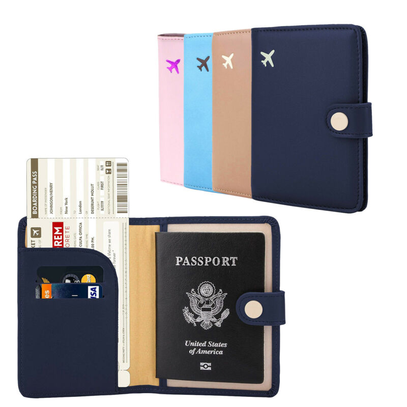 Rfid Blocking Passport Holder Wallet Travel Card Case Organizer Cover Protector