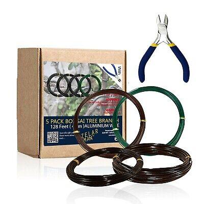 ZELARMAN Bonsai Training Wire Set of 4 - Total 128 Feet(32 Feet Each Size) 3 ...