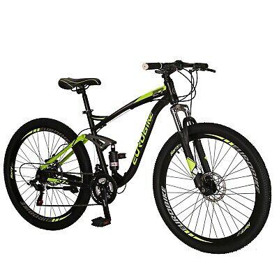 2019 Full Suspension Mountain Bikes Shimano 21 Speed Mens Bicycle 27.5