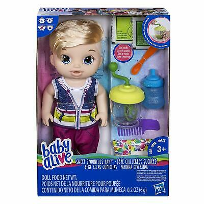 NEW Baby Alive Sweet Spoonfuls Blonde Baby Doll Boy - Feed Doll & Change Diaper for sale  Dinuba