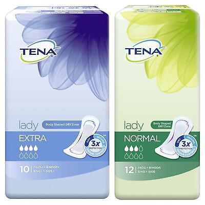 TENA Lady Normal & Extra Pads - Great Value Bulk Buy 6 Packs