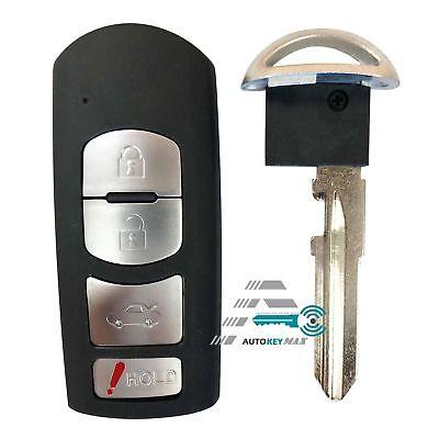 New Key Fob Shell Pad Case for 2014-2017 MAZDA 3 6 Entry Remote WAZSKE13DO1