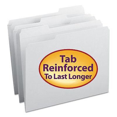 Smead File Folders 1/3 Cut Reinforced Top Tab Letter White 100/Box 12834