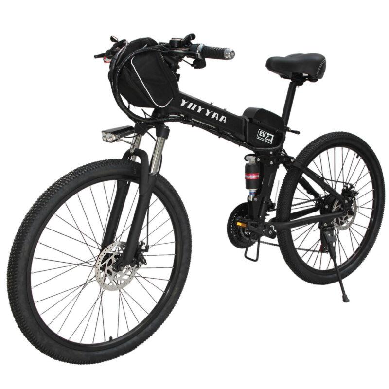 """YIIYYAA 26""""Folding Electric Bike City Mountain Cycling E-Bik"""