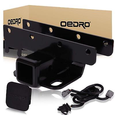 OEDRO Fit for 2007-2018 Jeep Wrangler JK Unlimited 2 inch Tow Trailer Hitch Kit