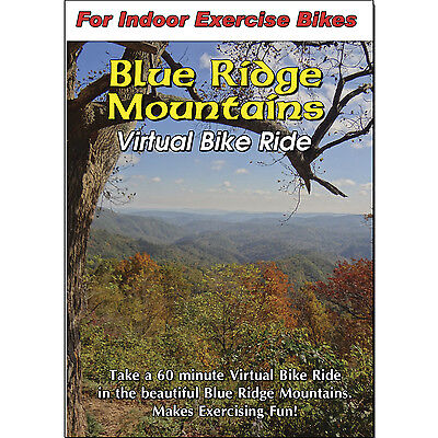 BLUE RIDGE MOUNTAINS VIDEO INDOOR CYCLING SCENERY BIKE  EXERCISE FITNESS DVD