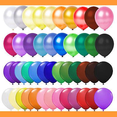 Luftballons Ø 30 cm - 50 Farben - Metallic / Matt Geburtstag Hochzeit Helium rot