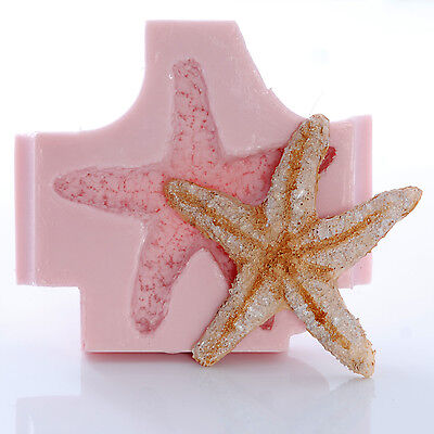 Large Starfish Seashell Silicone Mold Mould Food Safe Fondant Polymer Clay  (836