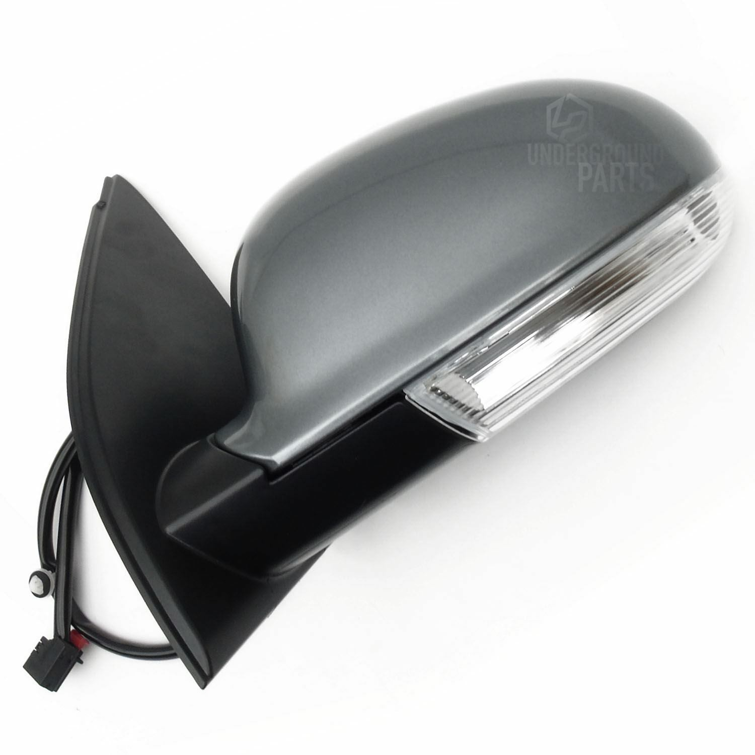 Passenger side LHS black wing mirror cover for Renault Clio 05-09 mk 3 casing