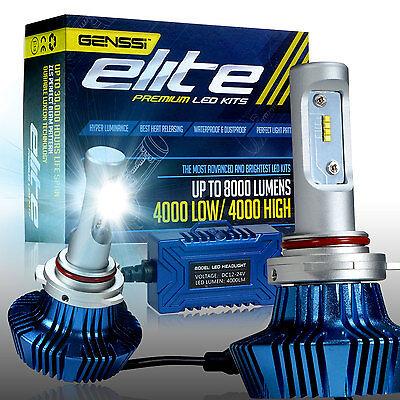 GENSSI ELITE 9012 HIR2 76W 6000K White LED Headlight Conversion Kit Light Bulb
