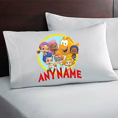 Bubble Guppies Custom Personalized Pillow Case Custom Made w. Your Name