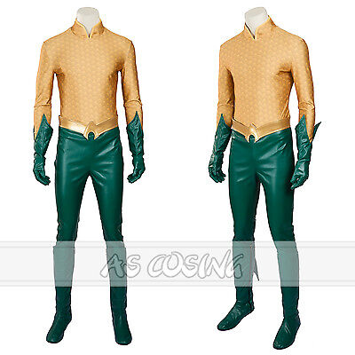 Quaman Cosplay Costume Arthur Curry / Orin Costume Full Set  Halloween Costume (Arthur Halloween Full)