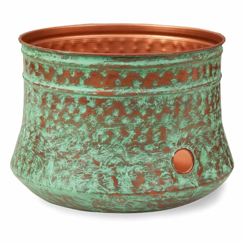 Liberty Garden LBG-1917-G Decorative Rustic Garden Hose Storage Pot, Patina