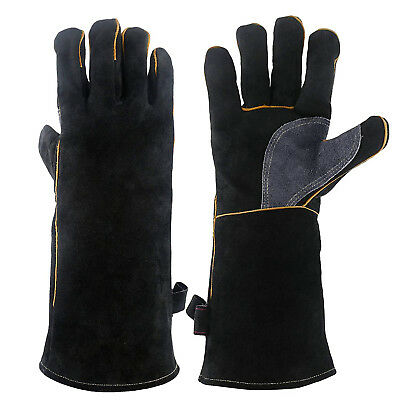 Extreme Heat Fire Resistant Gloves Leather With Kevlar Stitching Welding Glove