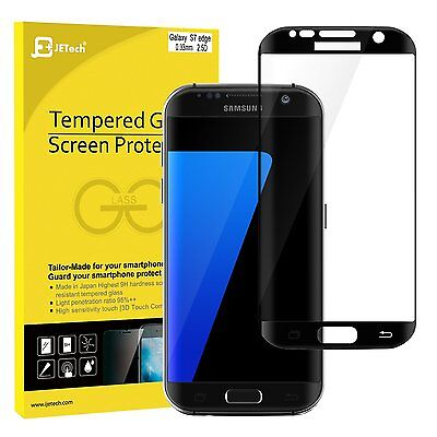JETech 0927 Samsung Galaxy S7 edge Screen Protector Complete Cover Tempered Glass