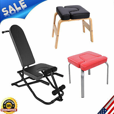 NEW Yoga Headstand Bench Yoga Chair Inversion Table Home Gym Fitness Exercise US