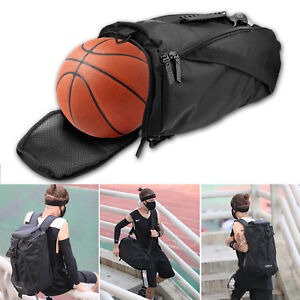 Sport Gym Duffle Backpack Luggage Shoulder Bag With Shoes Basketball  Compartment 0208bc6350b57