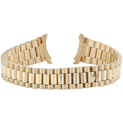 Ladies President 18K Yellow Gold Watch Band For Rolex Day-Date 13mm | 39.7 grams