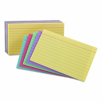 Oxford Index Cards Assorted Colors 5 X 8 Ruled 100-pack