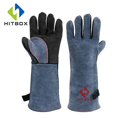 16 Inch Leather Welding Gloves For Tig Welders/Mig/Fireplace/Stove/BBQ/Gardening