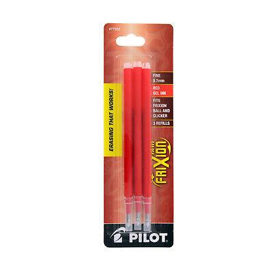 Pilot Gel Ink Refills For Frixion Erasable Gel Pen 0.7mm Fine Red 3 Count