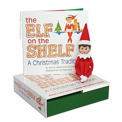 The Elf on the Shelf: A Christmas Tradition Book & Blue-Eyed Girl Scout Elf (Scout Elf)