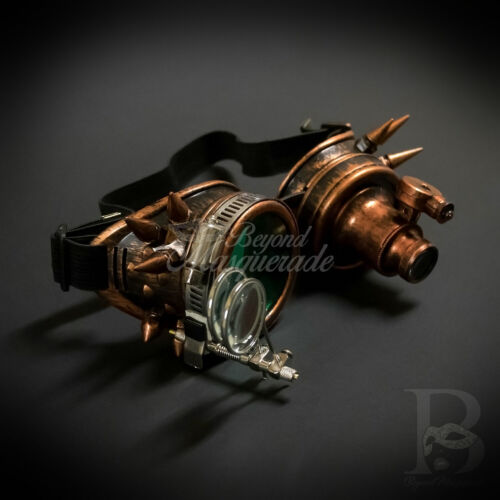 Steampunk Light Up Spectacles Magnifier Goggles Masquerade Accessory [Copper]
