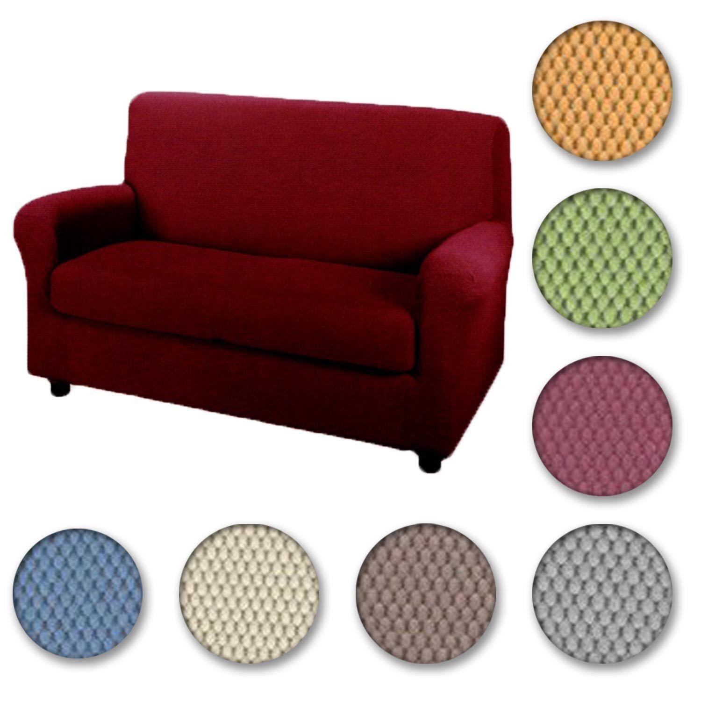 Copridivano 2 posti x divano caleffi cm 180 tinta unita - Copridivano bassetti 3 posti ...