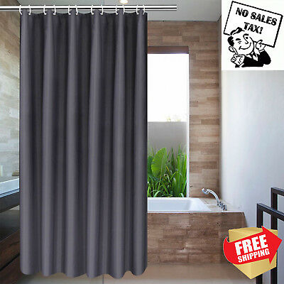 Solid Gray Shower Curtain Stall Size 36 x 72 Plain Fabric Shower Curtain Classic