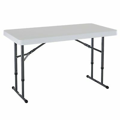 Folding Table Card Table Utility Adjustable Folding Reception Grad Party Craft