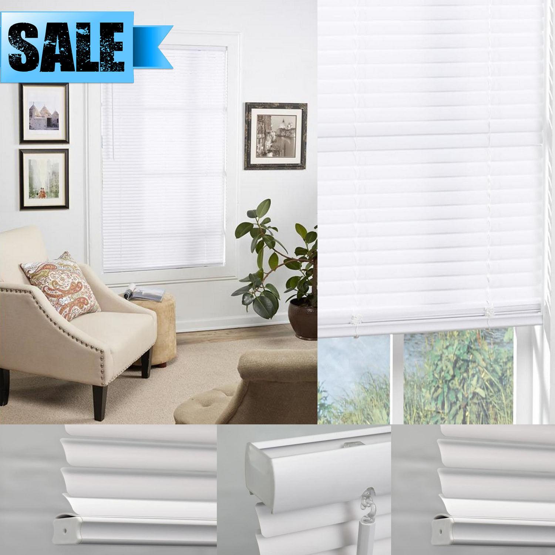 cordless window white mini vinyl blind 1