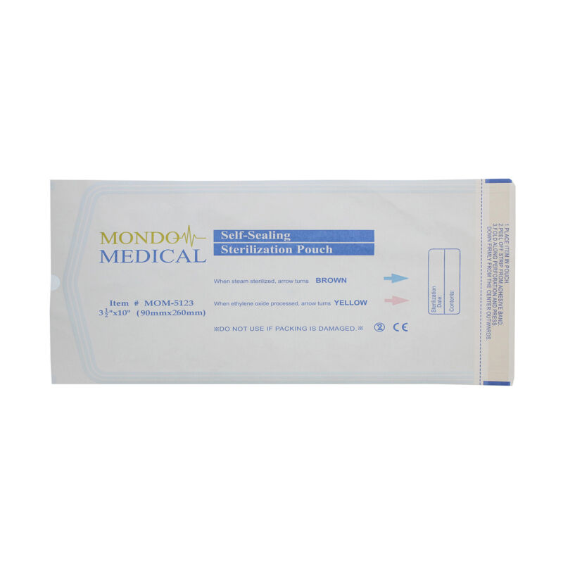 Monmed Self Seal Sterilization Pouches - 3.5 X 10 Inch Sterilizer Bags, 200pc