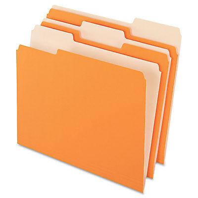 Pendaflex Colored File Folders 13 Cut Top Tab Letter Orangelight Orange 100